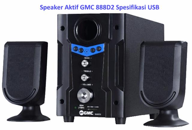 Harga Speaker Aktif GMC 888D2 Spesifikasi