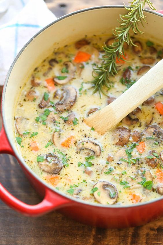 CREAMY CHICKEN AND MUSHROOM SOUP #creamy #chicken #chickenrecipes #mushroom #soup #souprecipes #easysouprecipes