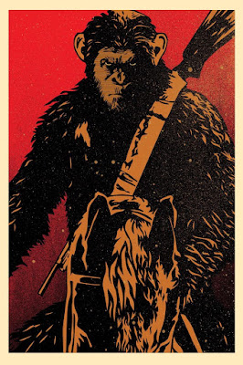 War For The Planet Planet of the Apes RealD 3D Triple Feature Mini Poster by Shepard Fairey & Obey Giant