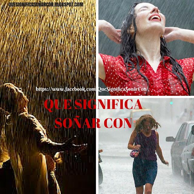 cual es el significado de soñar con lluvia