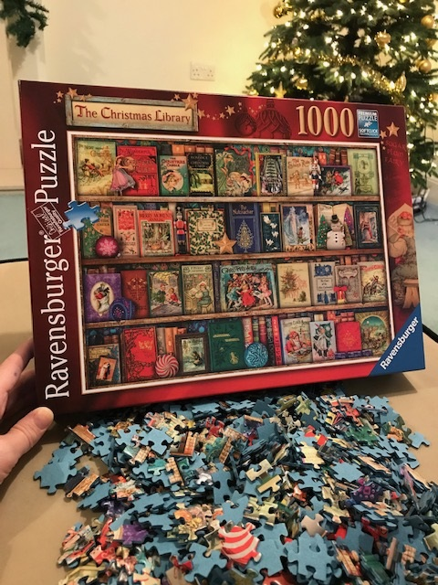 Ravensburger Christmas Puzzle 2021 Jennifer S Little World Blog Parenting Craft And Travel The Christmas Library Jigsaw Puzzle From Ravensburger