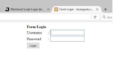 Scipt Login menggunakan PHP dan MySql terlengkap