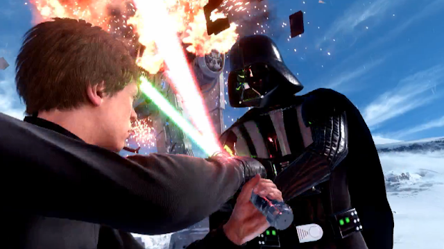 Star Wars: Battlefront Battle Front Luke Skywalker Darth Vader screenshot picture image