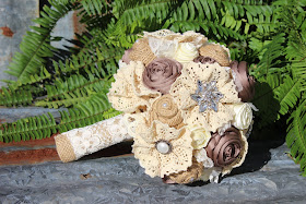 rustic glam bridal bouquet