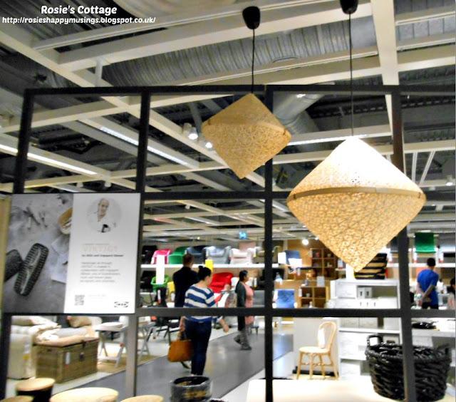 Ikea VIKTIGT Bamboo Pendant Shades