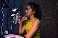Actress Catherine Tresa Pos during Self Dubbing for Gautham Nanda Movie  0022.JPG
