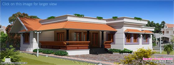 1650 sq-ft single floor house