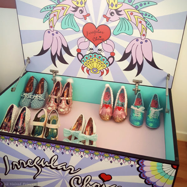 irregular choice shoe mermaid storage chest