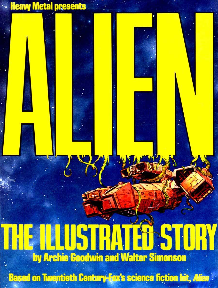 Alien: The Illustrated Story - Walt Simonson movie adaptation graphic novel cover art