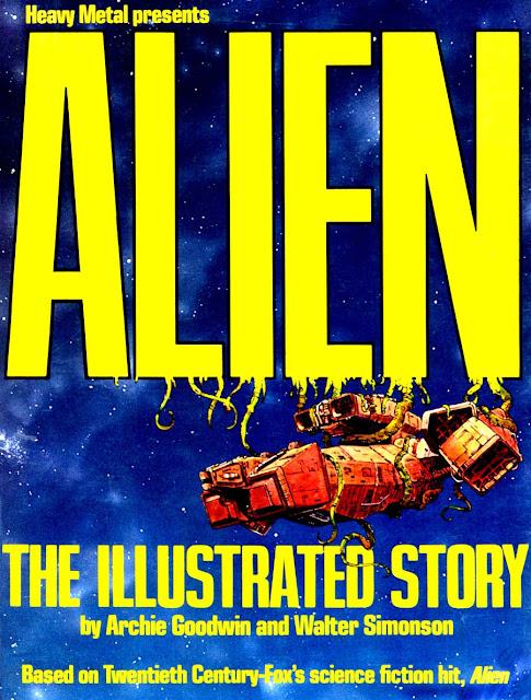 Alien: The Illustrated Story - Walt Simonson movie adaptation graphic novel cover art