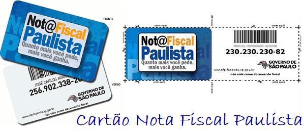 Como fazer o cartão da nota fiscal paulista