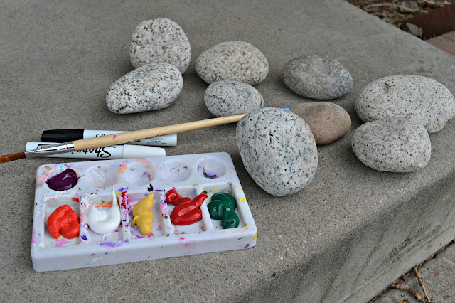 Hand-Painted River Stone Garden Markers, painted garden markers, stone garden markers, painted garden stones, DIY garden markers