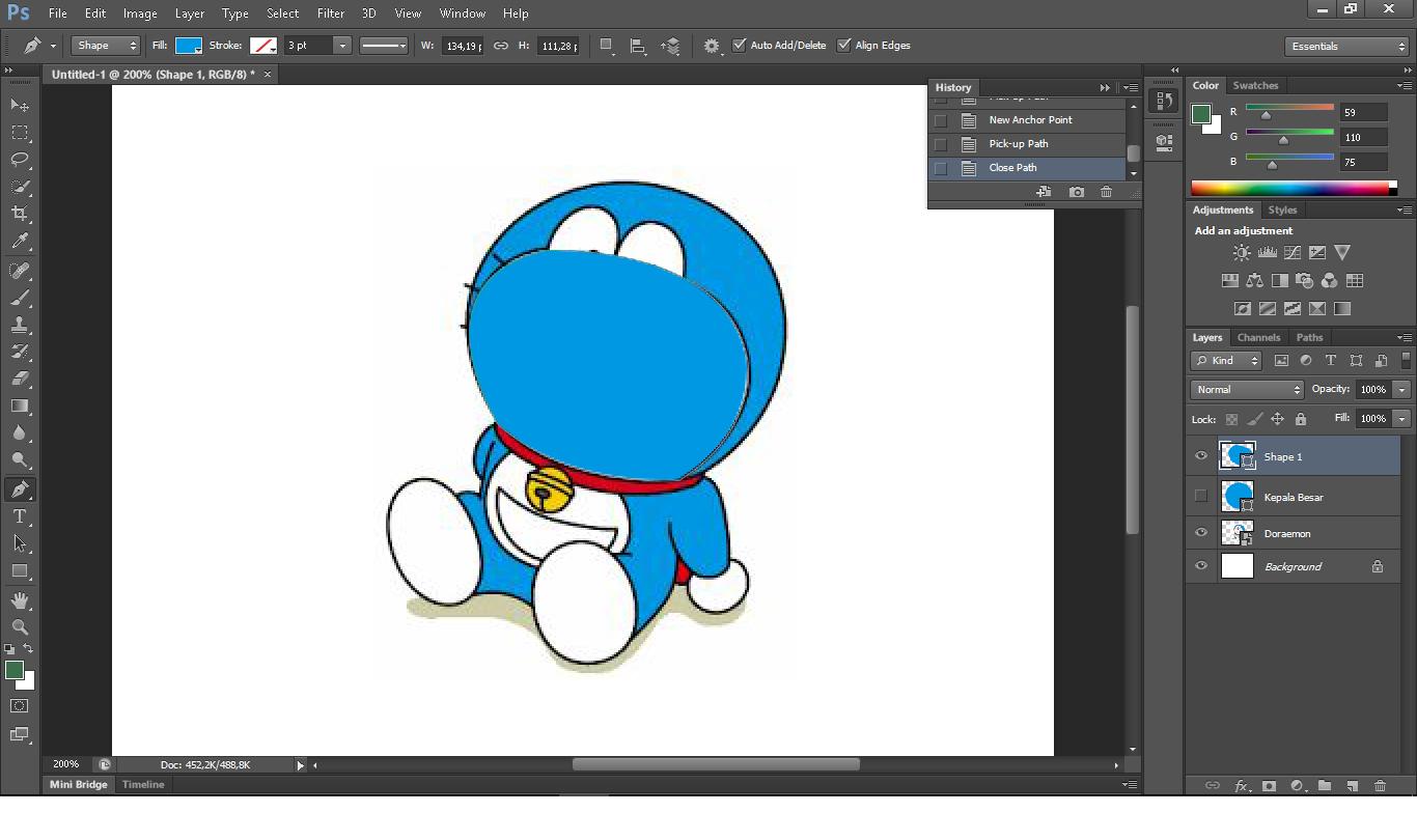 Cara Tracing Menggunakan Aplikasi Adobe Photoshop