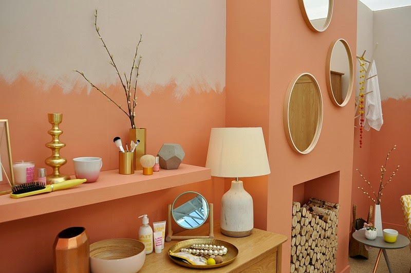 Copper blush showroom by dulex Ideal Home Show 2015