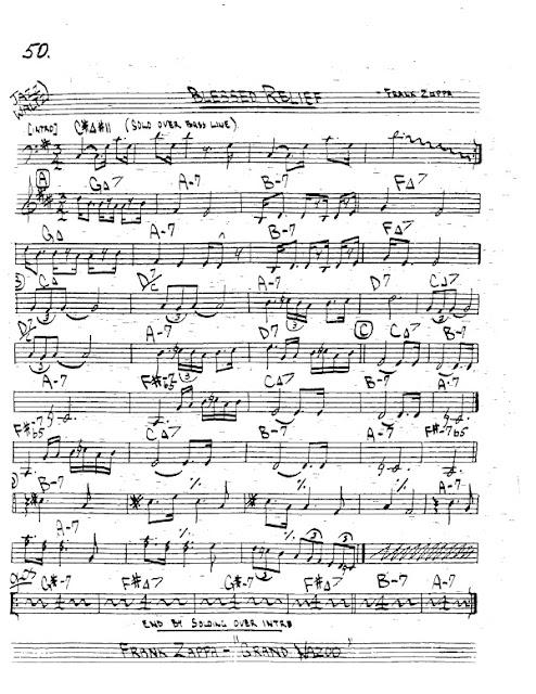 Partitura Trompeta Frank Zappa