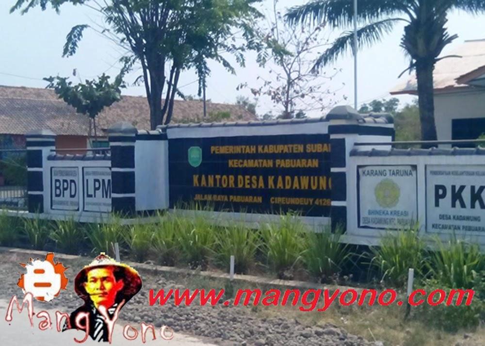 Desa Kadawung, Kecamatan Pabuaran.