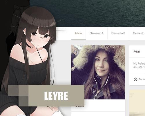 Leyre planttilla responsive blogger