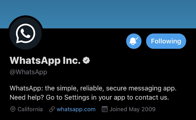 WhatsApp Dark Twitter Profile