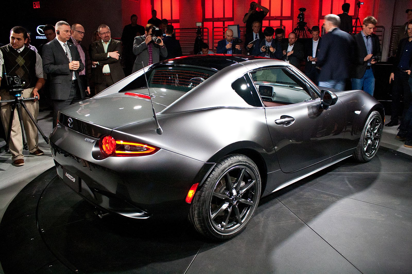 Rear side view of mazda mx 5 miata rf hardtop picture from http adf ly 1ypr8u