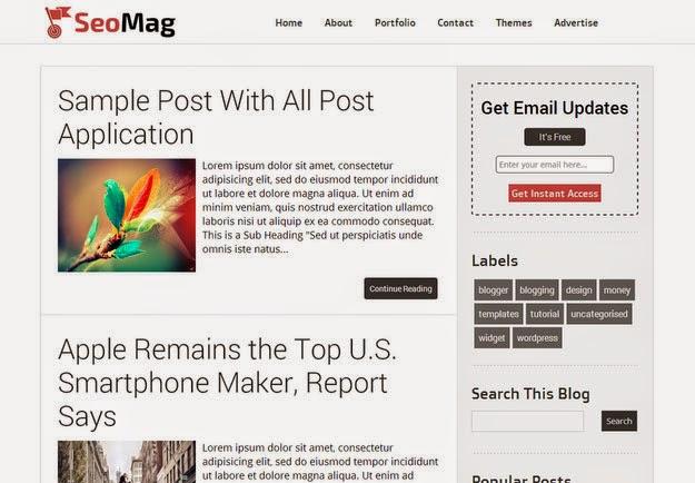 Seo Mag Free Blogger Template