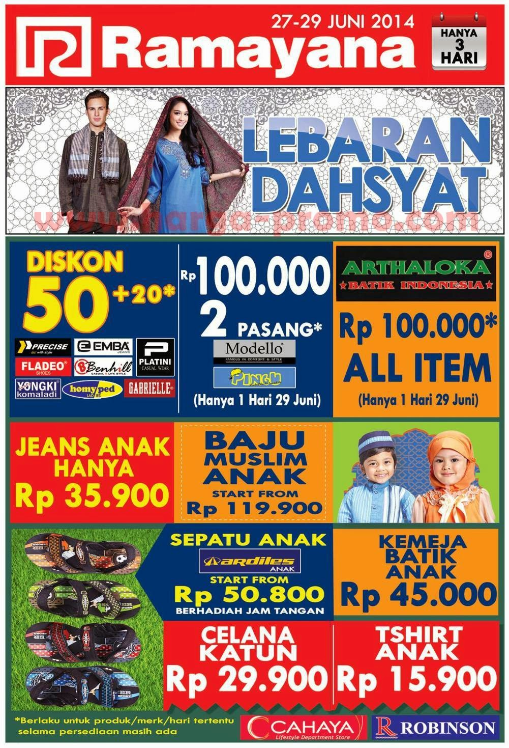 Promo RAMAYANA Department Store Akhir Pekan Periode 27 - 29 Juni 2014 ~  promosi katalog 9badd00e29