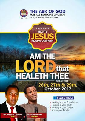'Mighty Jesus Healing Campaign' Begins Tomorrow