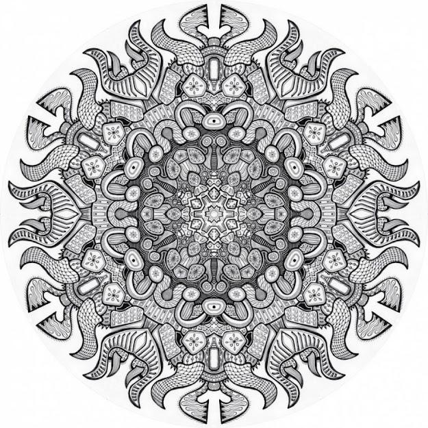 Advanced Mandala Coloring Pages Printable Advanced Christmas