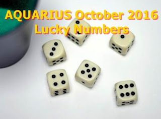 AQUARIUS October 2016 Lucky Numbers Forecast
