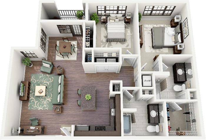 2+1 house plan