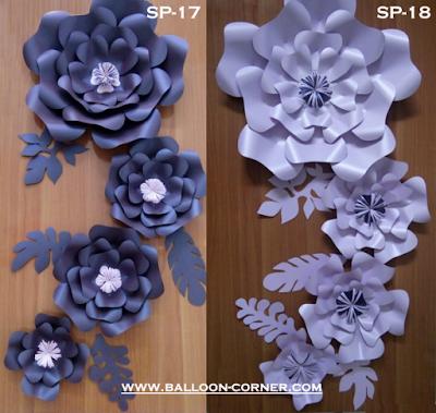 Paper Flower / Bunga Kertas (Paket SP-17 & Paket SP-18)
