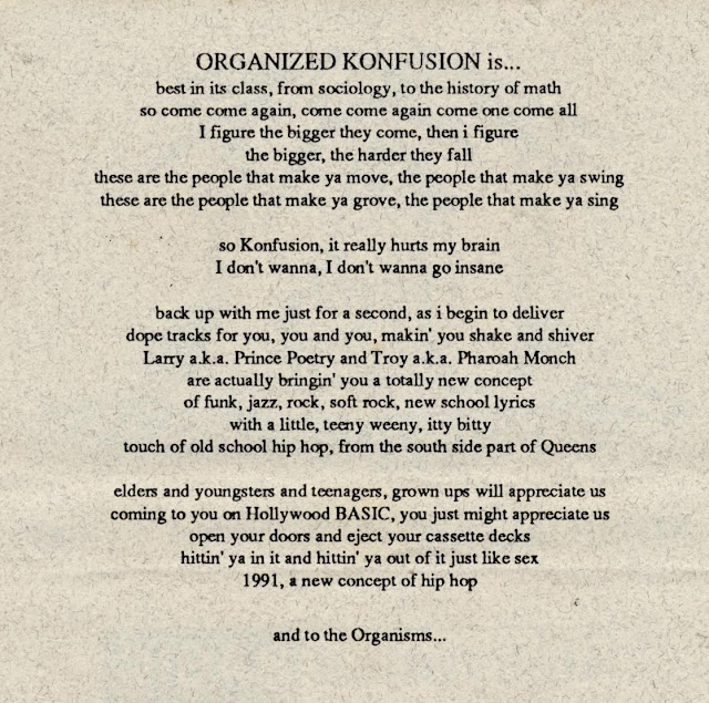 Organized Konfusion Hollywood Basic Organisms