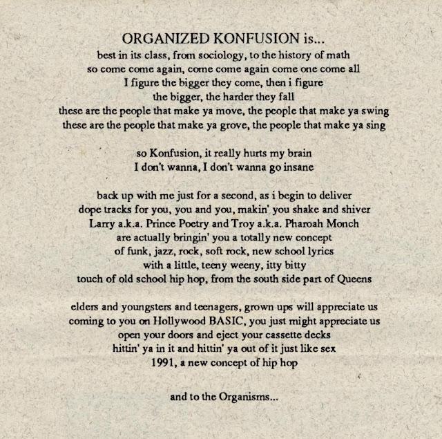 Organized Konfusion Hollywood Basic Organisms
