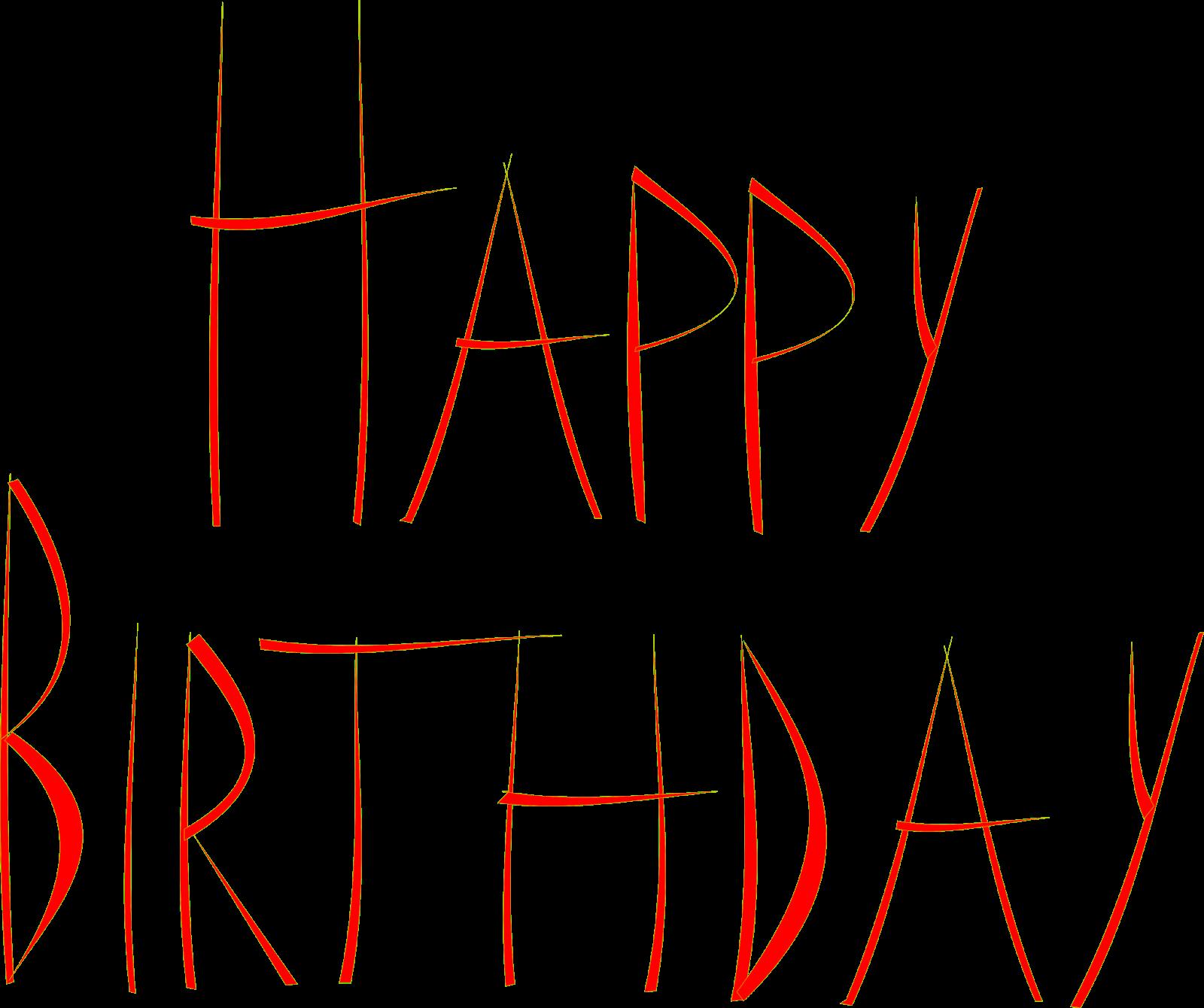 free printable Happy Birthday cards – free Happy Birthday word art – clipart graphics – ausdruckbare Happy Birthday Karte   MeinLilaPark