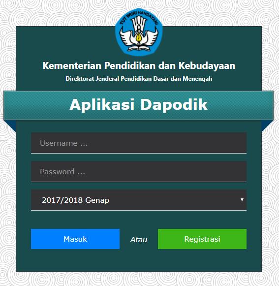 Rilis Aplikasi Dapodikdasmean 2018 b Semester 2