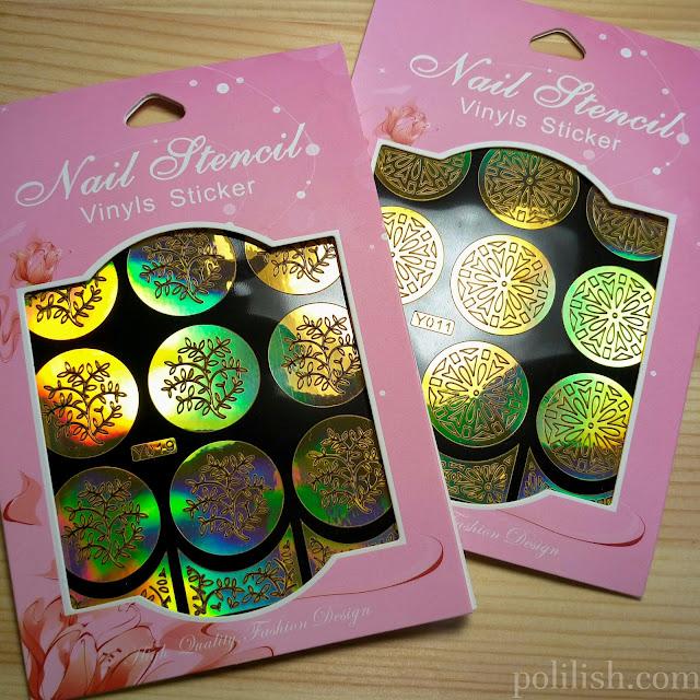 Review of nail vinyls and nail art mat from Born Pretty Store   polilish