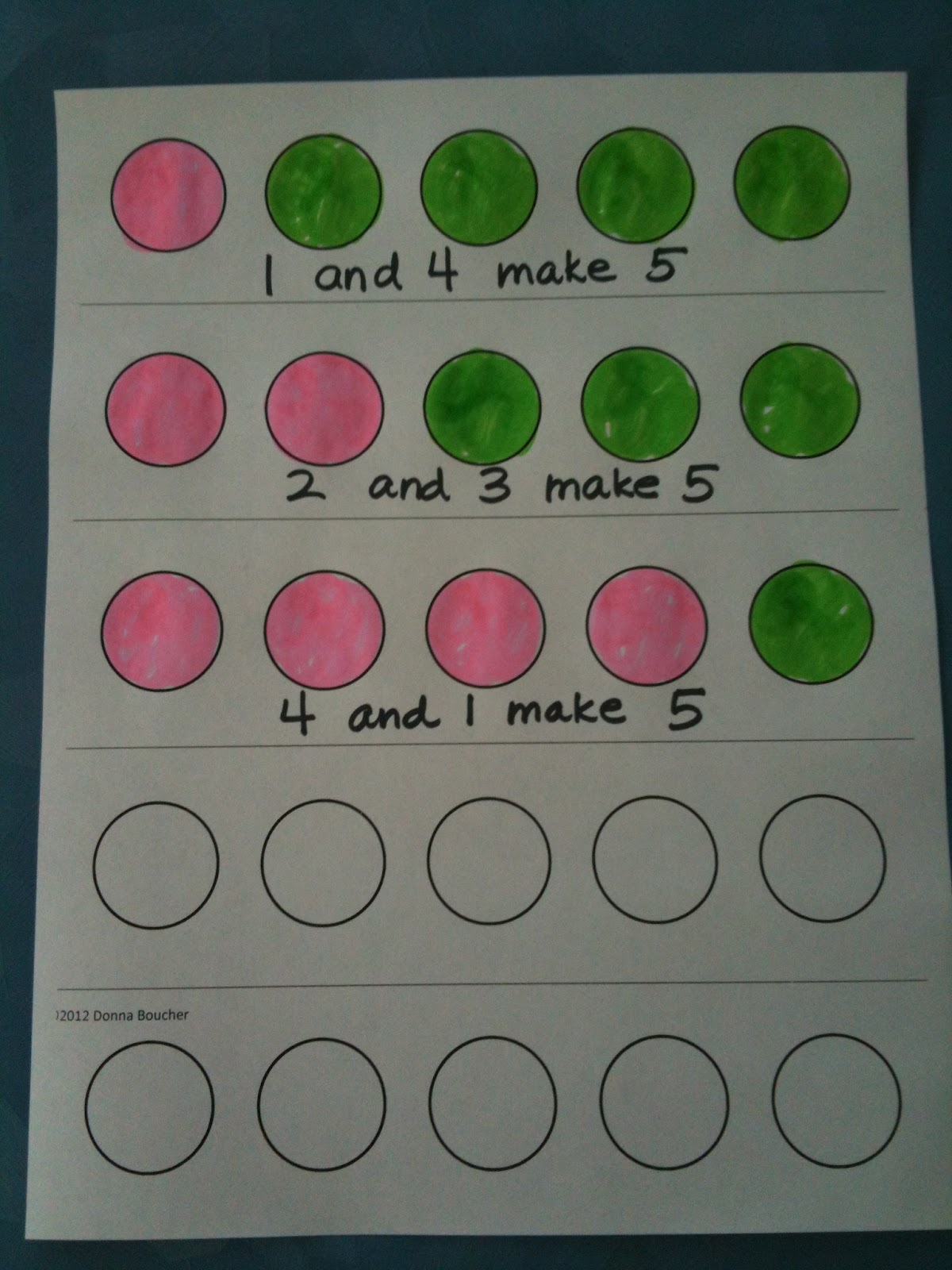 Classroom Freebies Too Number Combination Fun