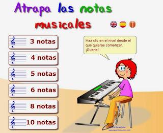 Resultat d'imatges de ATRAPA NOTES MUSICALES
