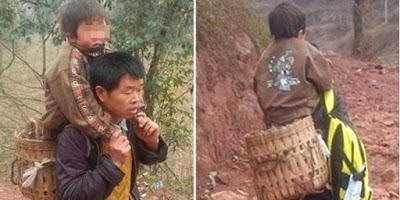 Ayah di China tiap hari gendong anaknya sejauh 28 kilometer