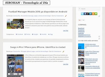 Sibohan, blog de tecnología y aplicaciones