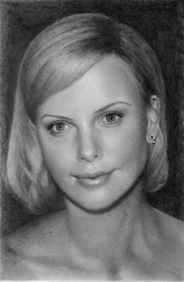 Charlize+Theron+by+Silvia+Reis+graphite+pencil+drawing