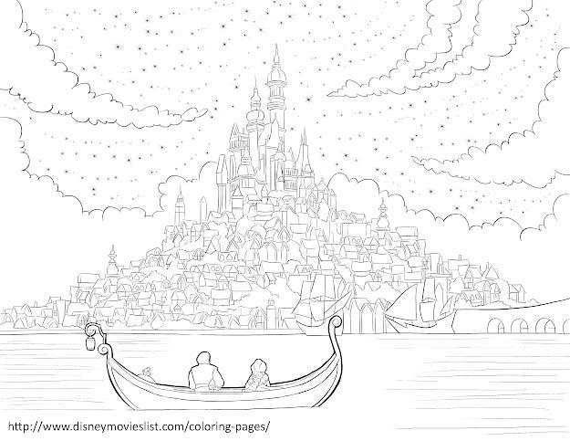 Disneys Tangledcorona Kingdom Coloring Page