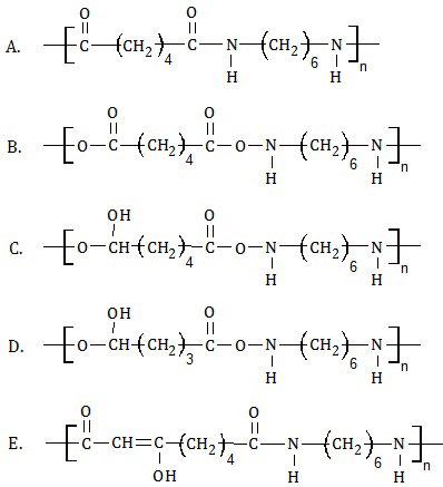 pilihan hasil polimerisasi asam adipat dan heksametilendiamina