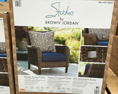 Costco 465352 - Brown Jordan Studio Woven Accent Chair features rust free aluminum framing