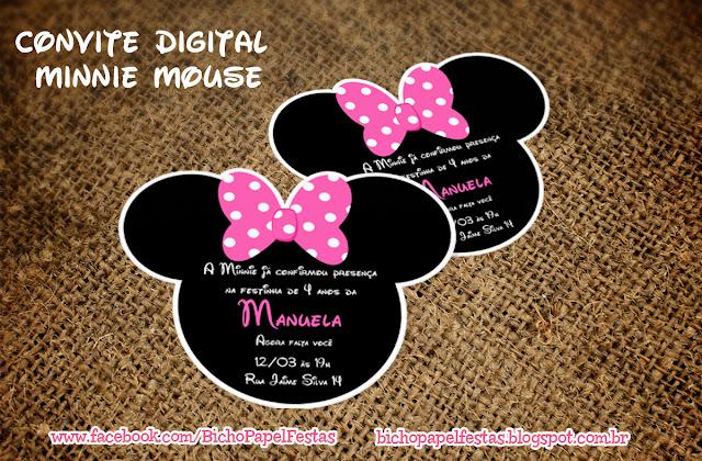 Arte Convite Minnie