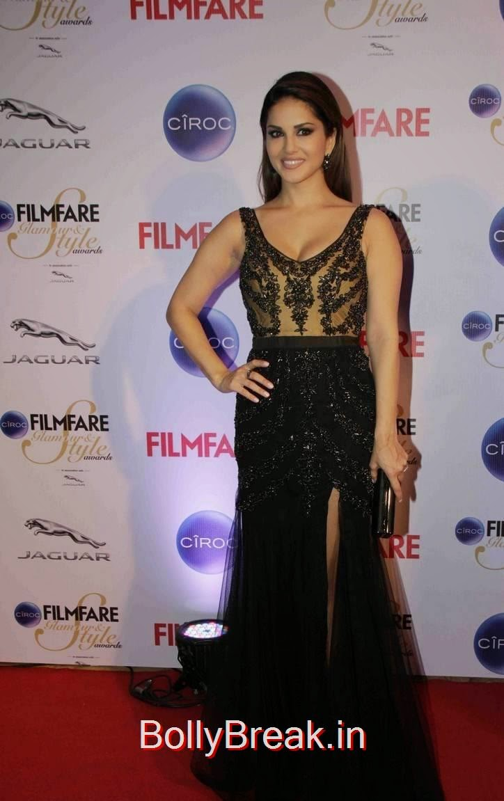 Sunny Leone Photos At Ciroc Filmfare Glamour and Style Awards 2015, Sunny Leone Hot HD Backless Gown Pics from Filmfare Awards