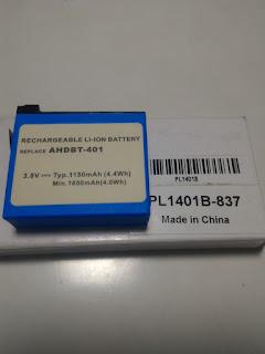 Jual baterai Gopro HERO 4 AHDBT-401
