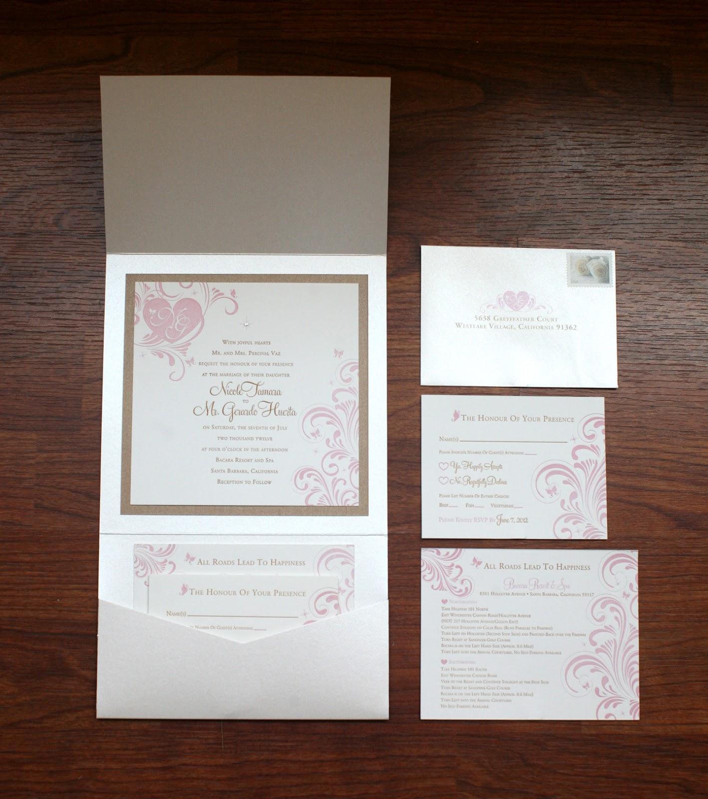 custom wedding letterpressed bling wedding invitations Custom Letterpressed Wedding Invitations Pink Hearts Design