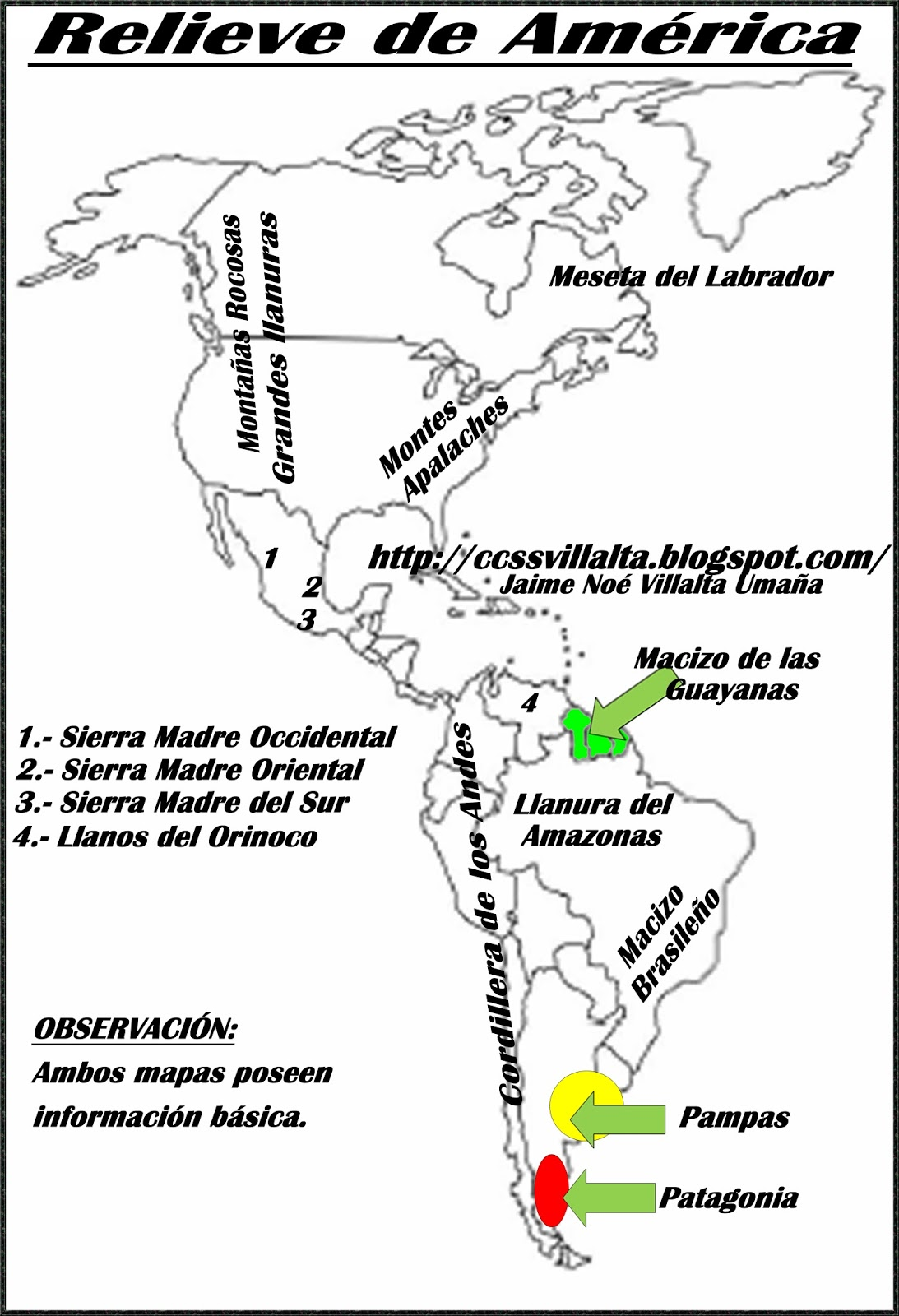 Mapa De Las Americas Para Dibujar