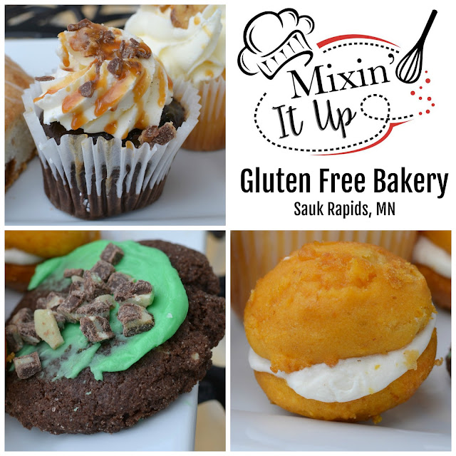 Mixin' It Up Gluten Free Bakery in Sauk Rapids, Minnesota! A tasty Central Minnesota gluten free bakery with a variety of baked goods including cupcakes, cookies, cheesecakes, bread, pizza crusts and more!