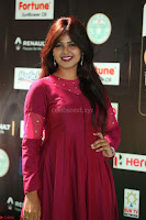 Monal Gajjar in Maroon Gown Stunning Cute Beauty at IIFA Utsavam Awards 2017i 006.JPG